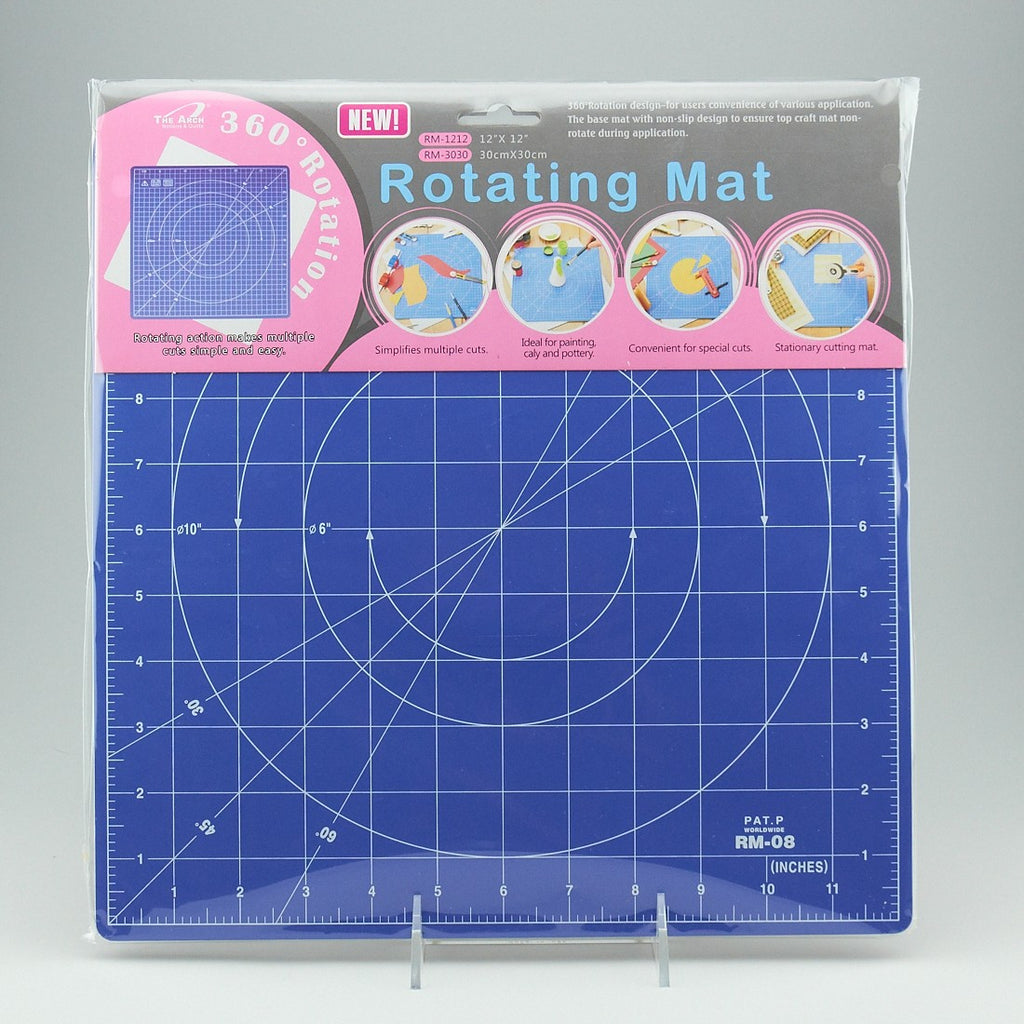 "12"" X 12"" ROTATING CUTTING MAT"