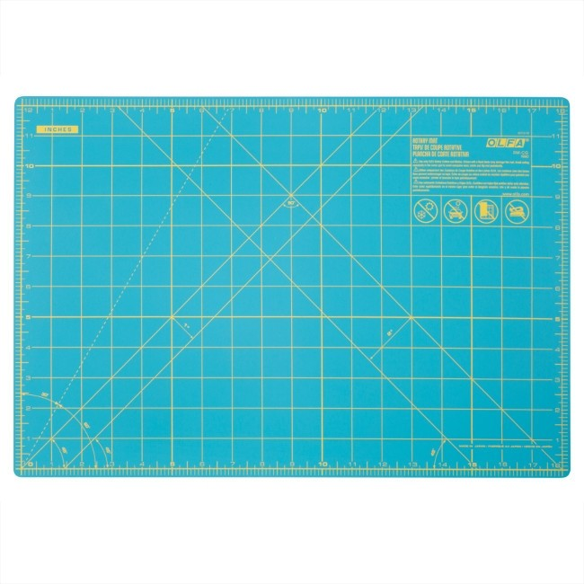 Olfa Splash 12 x 18 Cutting Mat - Aqua