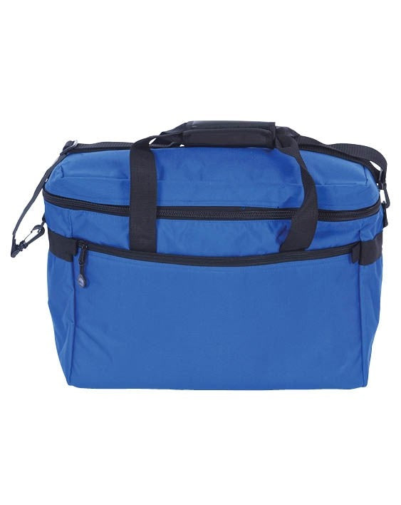 Bluefig Project Bag- Cobalt Blue Includes Embroidery Arm Custom Foam Inserts for Small Embroidery Units