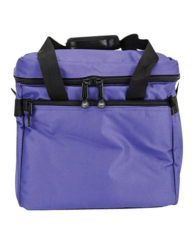 Bluefig Bright Series 23 in Emb. Arm Bag- Purple Includes Custom Foam Inserts