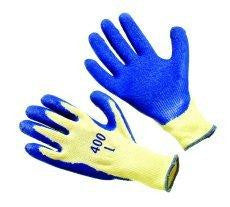 Glove - Blue Rubber Palm Coated - LARGE