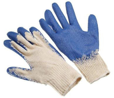 Glove - Palm Coated Rubber Knit Glove Blue (economy) - X Large