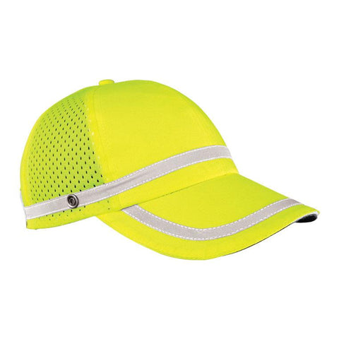 Hat Lime Baseball Cap with Stripe
