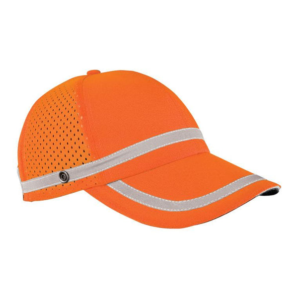 Hat Orange Baseball with Reflective Stripe