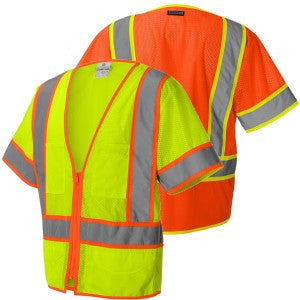 Vest - Class 3  Surveyor Vest w/contrast - ORANGE