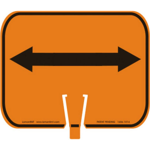 Sign - Cone - Double Clip - Arrow - Orange