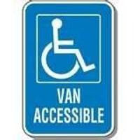 Handicap Van Accessible Sign - 12