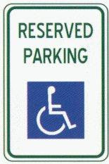 Handicap Reserved Parking Sign - 12