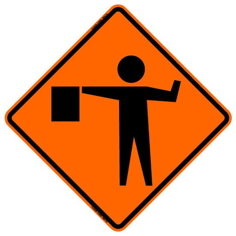 "Roll Up Sign - Flagger Symbol 36"" x 36"" PM"