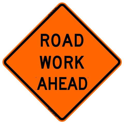 "Roll Up Sign - Road Work Ahead 36"" x 36"" PM"