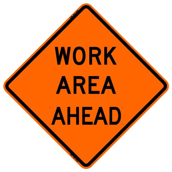 "Roll Up Sign - Work Area Ahead 36"" x 36"" PM"