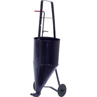 Pot - Pour Pot/ Crack Filler, Black w/Wheels 2.6 Gallon (Short Handle)