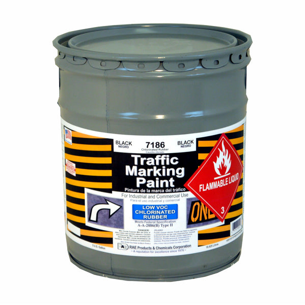 Paint - Chlorinated Rubber Traffic Marking - Pail - Black 7186