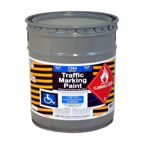 Paint - Chlorinated Rubber Traffic & Zone Marking - Pail - Blue 7384