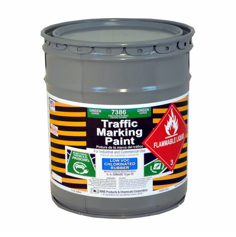 Paint - Chlorinated Rubber Traffic & Zone Marking - 4 Gallon Pail - Green