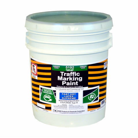 Paint - Fast Dry Latex Traffic Marking - Green 5192