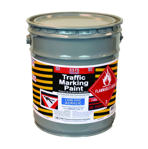 Paint - Acetone Acrylic Traffic Marking - Pail -  Red 5375