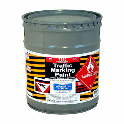 Paint - Chlorinated Rubber Traffic Paint - Pail - Red