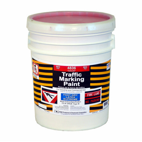 Paint - Fast Dry Latex Traffic Marking, Supreme Fast Dry - Red 4836