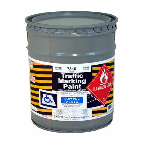 Paint - Solvent Based Low VOC Alkyd Traffic Marking - Pail - White