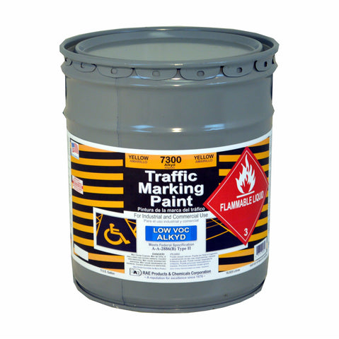Paint - Solvent Based Low VOC Alkyd Traffic Marking - Pail - Yellow 7300