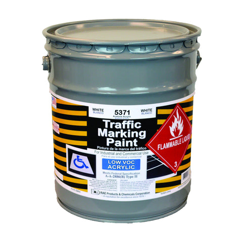 Paint - Acetone Acrylic Traffic Marking - Pail - White 5371