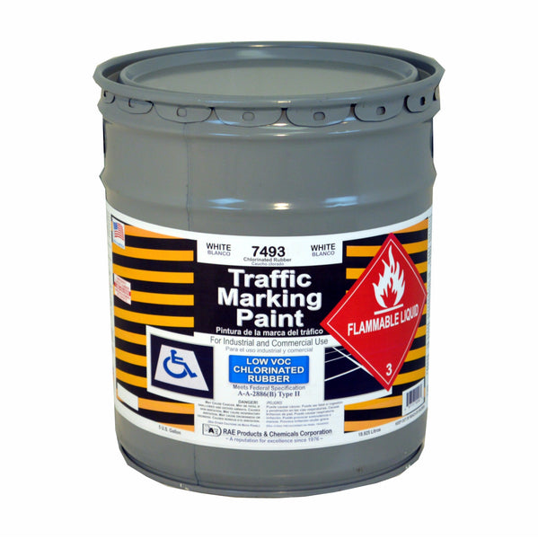 Paint - Chlorinated Rubber Traffic & Zone Marking - Pail - White 7493