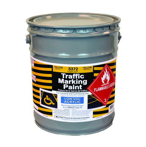 Paint - Acetone Acrylic Traffic Marking - Pail - Yellow 5372