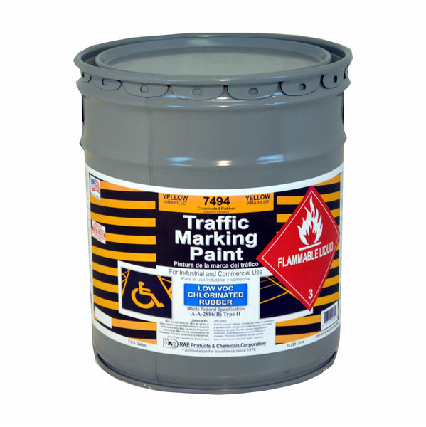Paint - Chlorinated Rubber Traffic & Zone Marking - Pail - Yellow 7494