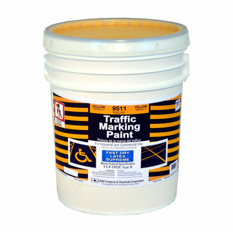 Paint - Fast Dry Latex Supreme Traffic Marking - Pail - Yellow 9511