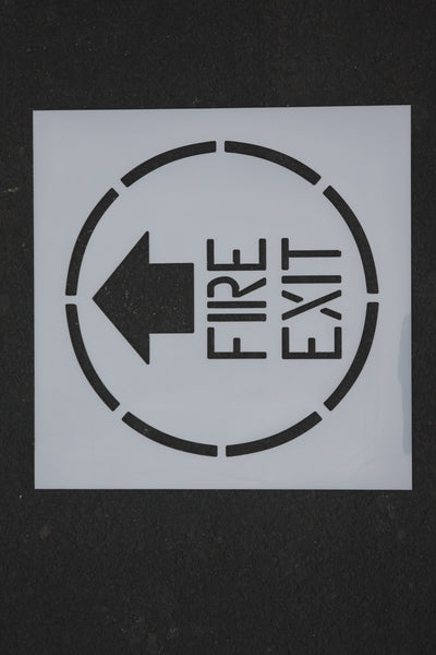 Stencil - IND FIRE EXIT