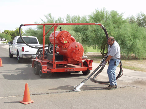 Crack-Vac - Dust Containment System w/Compressor Skid Mount