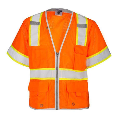 Vest - Class 2 Brilliant series contrast - ORANGE