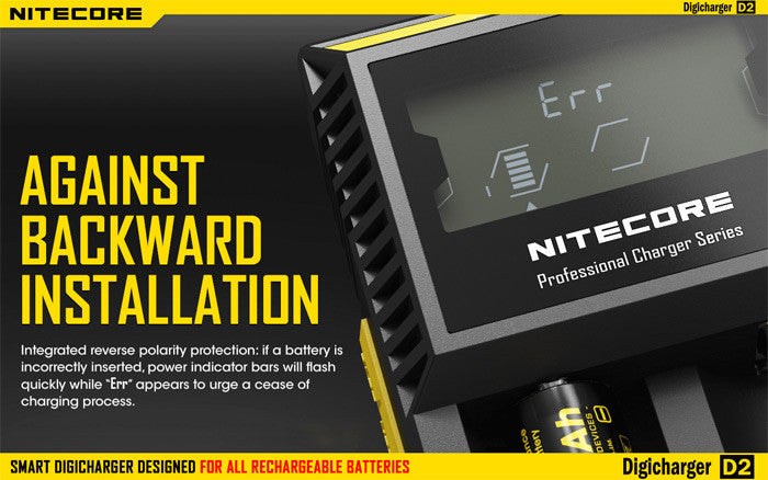 Nitecore Digicharger D2 - Technical information and Demonstration