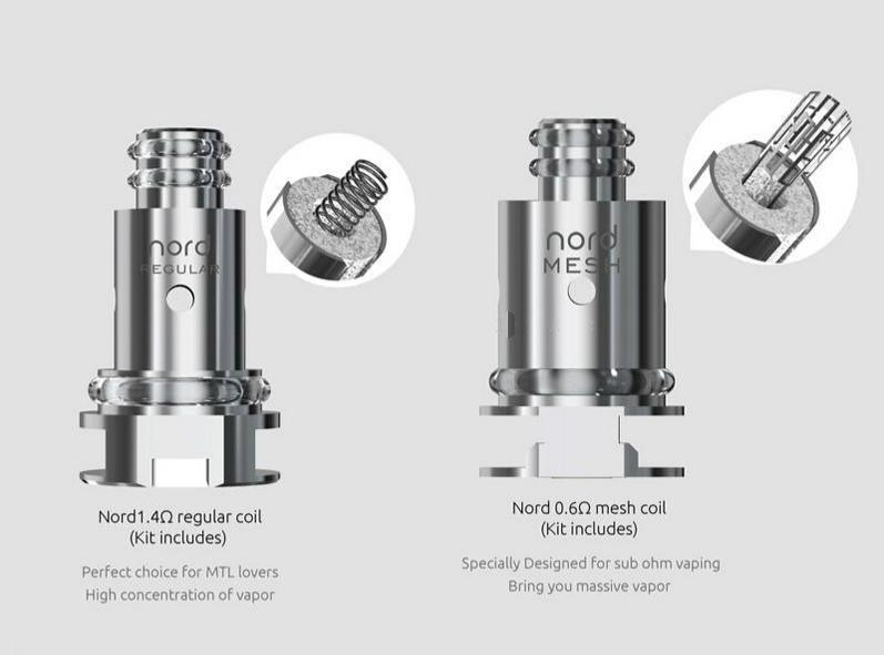 Nord Replaceable Mesh Coil Pod Style Kit By Smok