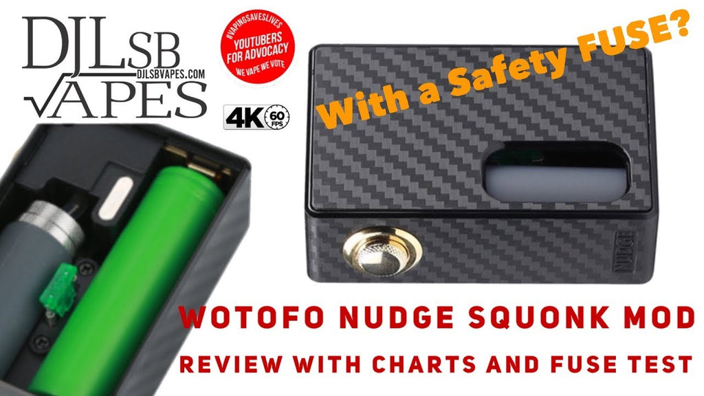 Wotofo Nudge BF mod Review with Voltage Drop Chart and Fuse Test
