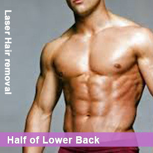 Half of the Lower Back - Laser Hair Removal for Men