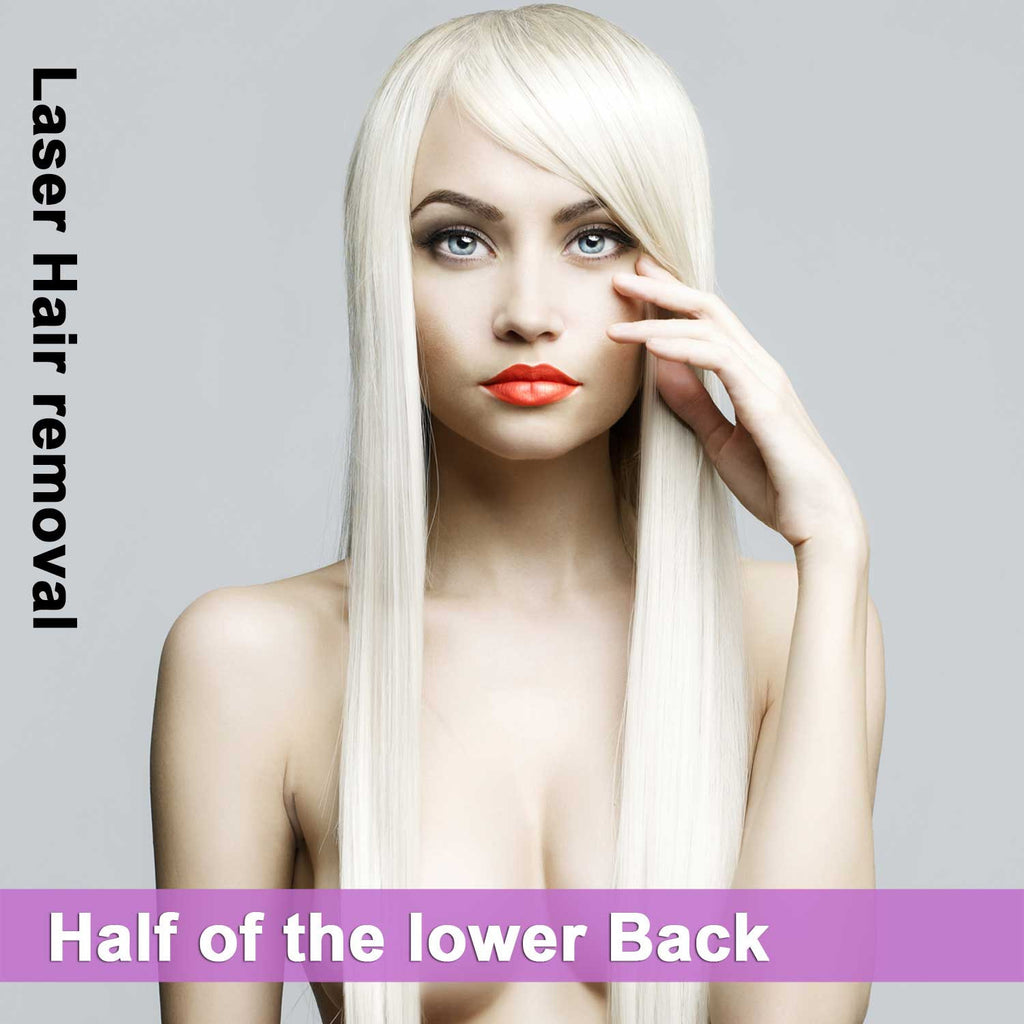 Half of the Lower Back - Laser Hair Removal for Women
