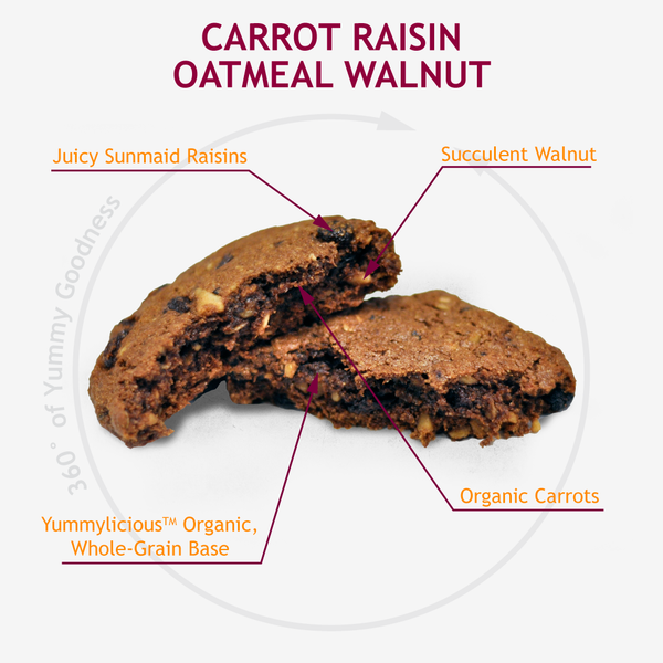 CARROT RAISIN OATMEAL WALNUT