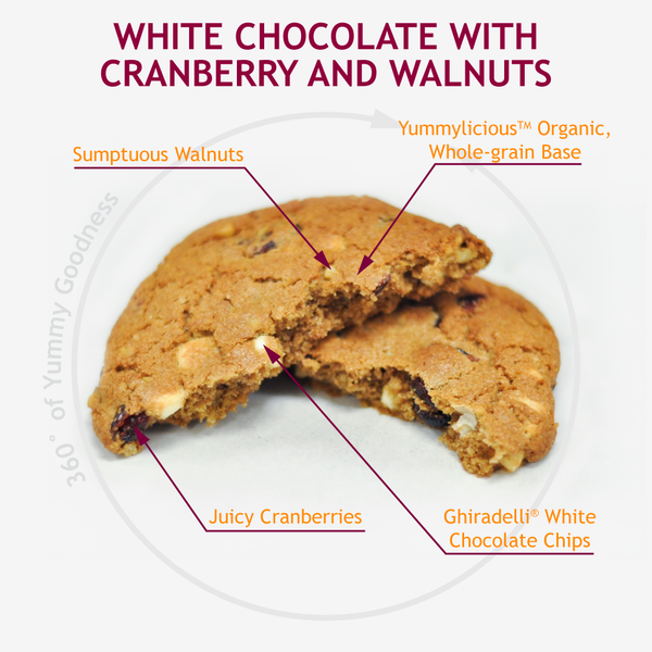 WHITE CHOCOLATE W/ CRANBERRIES AND WALNUTS