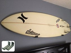 Minimalist Surfboard Wall Mounts & Bamboo Surfboard