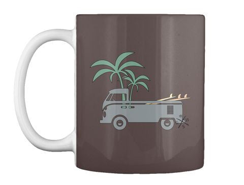 Friday Afternoon Vintage VW Surf Bus Mug Gear Hunter Surf