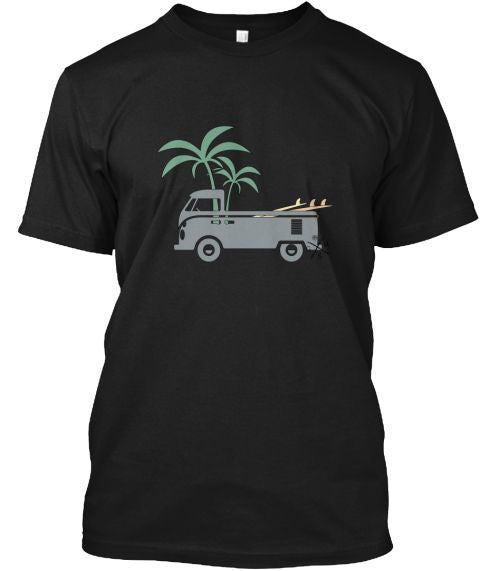Men's Friday Afternoon VW Surf Bus Shirt Black Gear Hunter Surf
