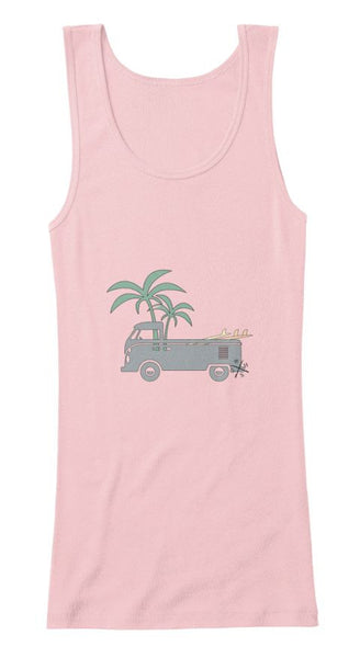 Friday Afternoon Women's Vintage Surf Bus Tank pink