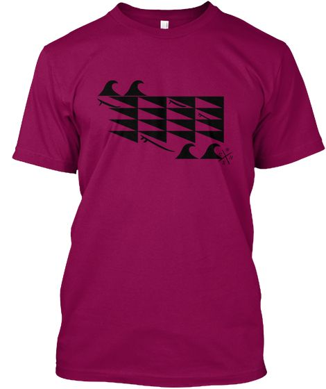 Men's magenta party wave surf shirt