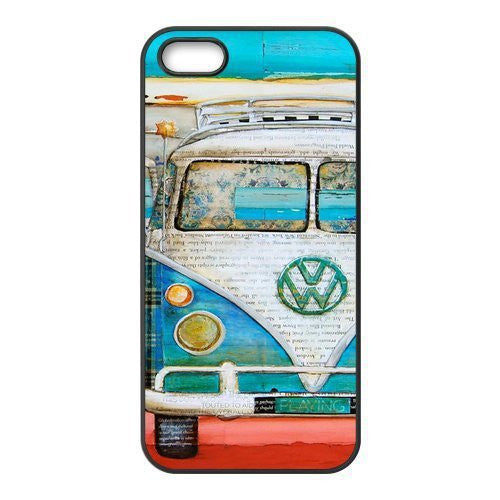 Turquoise Vintage Surf Van  Case for iPhone