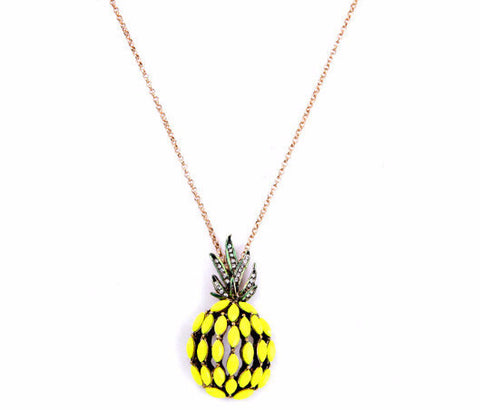 Juicy Pineapple Pendant Necklace