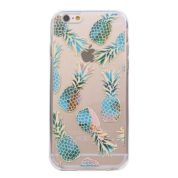Blue flame pineapple iPhone case