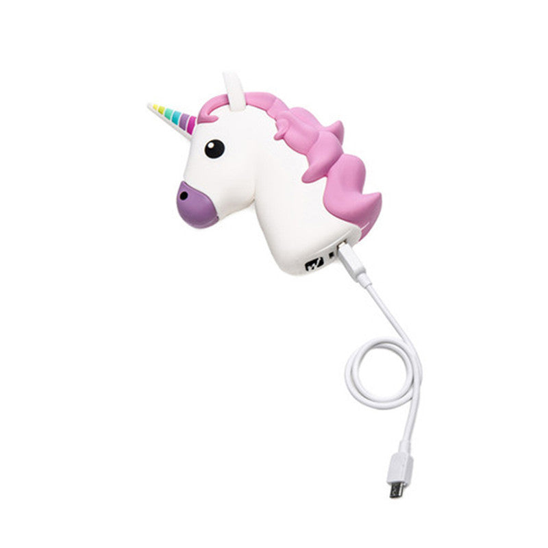 Kawaii Unicorn Emoji Portable Powerbank Charger Accessory