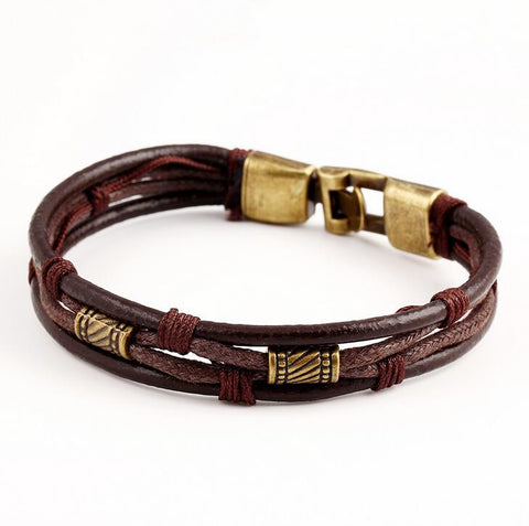 Land & Sea Leather  Tribal Bracelet